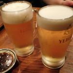 やきにく宵緒 - エビス生ビール