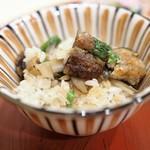 みくり - 鰻と隠元 ごぼうの炊き込みご飯