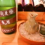 鳥と魚 - 日本酒(睡龍 生酛純米)