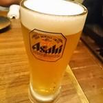 炭火焼肉 笑門来福 - 生ビール
