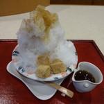 諏訪園 - ほうじ茶のかき氷650円(税込)
