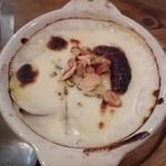 浦野屋 やきとん てるてる - ○ブルーチーズとさつま芋のグラタン380円