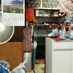 豊川稲荷境内家元屋 - 夏は扇風機です。 2016.8