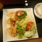 元氣亭 - 豆腐ハンバーグおろしポン酢ソース:820円