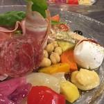 カ・デル・ヴィアーレ - 季節野菜&イタリアンハム&水牛のモッツァレッラチーズ