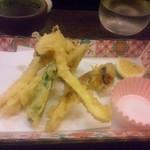 設楽 - 松茸天ぷら