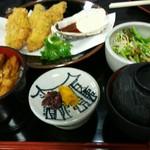55315635 - 清盛定食(カキフライ、あなごめしハーフ)