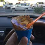 ブルーシールアイスクリーム - 食べかけですが、美味しかったです。