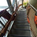 55319814 - 二階から降りるときに撮った階段。
