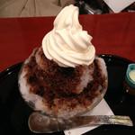 麻布茶房 - かき氷ショコラ・ラテ850円