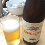 中華そば こてつ - 瓶ビール 480円