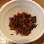麺通 - 辛子高菜 サービス