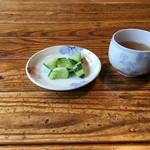 長沢茶屋 - きゅうりとお茶