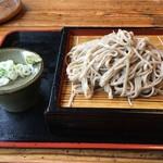 長沢茶屋 - もりそば(並盛り)750円