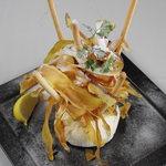 yebisu gogo cafe - 人気!さつま芋チップ&クリームチーズ