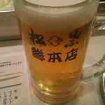 55327517 - 生ビール(モルツ)450円(税込) アサヒドライじゃなくてよかった^^