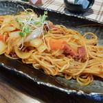 古民家カフェ&ダイニング 枇杏 - トマト煮込みソースのナポリタン850円