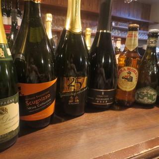 豊富なグラスワインと、ボトルワインを取り揃えております!