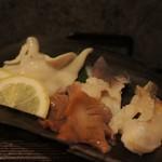 Shion - 石垣貝、赤貝、つぶ貝、北寄貝