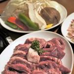 ホルモン・ジンギスカン たたら - 特撰生ラム、野菜セット、豚カルビ