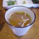 街道の燈 旬酒場やまもと - 鶏スープ~☆