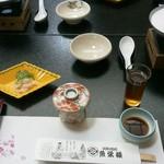 魚栄楼 - 料理写真:最初のセッティング