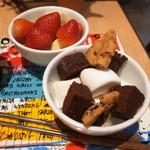 MAX BRENNER CHOCOLATE BAR - イチゴ バナナ マシュマロ ブラウニー クッキー