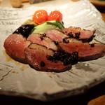 55335494 - 鴨と旬野菜のロースト(1166円)
