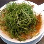 来来亭 - 葱ラーメン 九条ネギが山テンコ盛です。