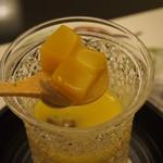 55338817 - 柚子風味の南瓜の冷製スープに寄せ南瓜が入ってます。
