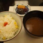 日本料理 花座 - 玉蜀黍の炊き込みご飯