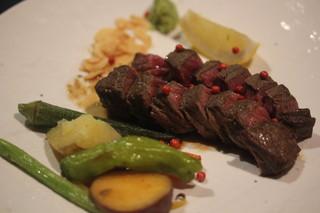 楽処ふるさと - イチボ肉ステーキ