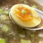 麺屋 がむしゃら - つけ麺スープはこんな感じ