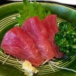 こばやし - 焼き魚御膳に付く お刺身 (●ˊᵕˋ●)