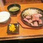 ばかすや - サーロインステーキ定食(100円ランチ)