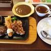 ビッグボーイ  - 料理写真:水曜日の日替わりスペシャルランチ「ハンバーグ&エビフライとチキンステーキ」