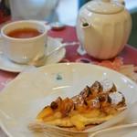 キル フェ ボン 仙台 - バナナのタルトと紅茶