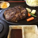 エリエール - 土佐のあかうしハンバーグ定食(ハンバーグ、キャベツ、ご飯、漬物、みそ汁) 350g 1,880円
