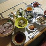 蔵王温泉吉田屋 - ある日の夕食(2010.9)