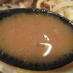 ラーメンつけ麺 笑福 - スープ、濃厚でした(2016.8.27)