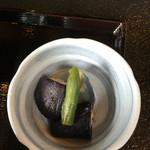 村民食堂 - 茄子の小鉢('16/08/29)