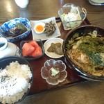 55367091 - たぬきそば定食(¥850)