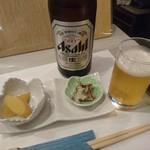志むら寿司 - お通しにアワビ♪