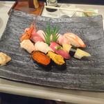 志むら寿司 - 大きい皿です
