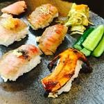 炙りにぎり寿司一貫700円~