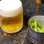 大地のうどん - ビール