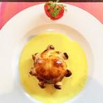 55378568 - 真鯛のパイ包み焼きとフルーツトマト