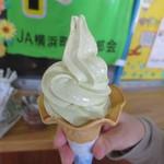 道の駅 よこはま 菜の花プラザ - 菜花ソフト 320円