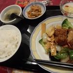 広東飯店 美香園 - 【2015.12】定食 鶏肉と野菜のカシューナッツ炒め