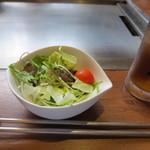 きゅうろく 鉄板焼屋 - セットのサラダ